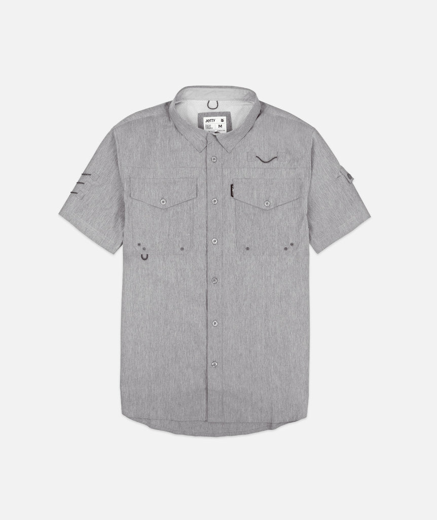 Jetty - Bowline SS Guide Shirt- Heather Grey
