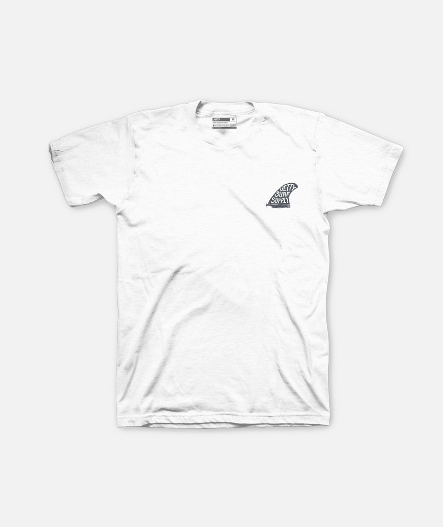 Jetty - Single Fin Tee- Ash