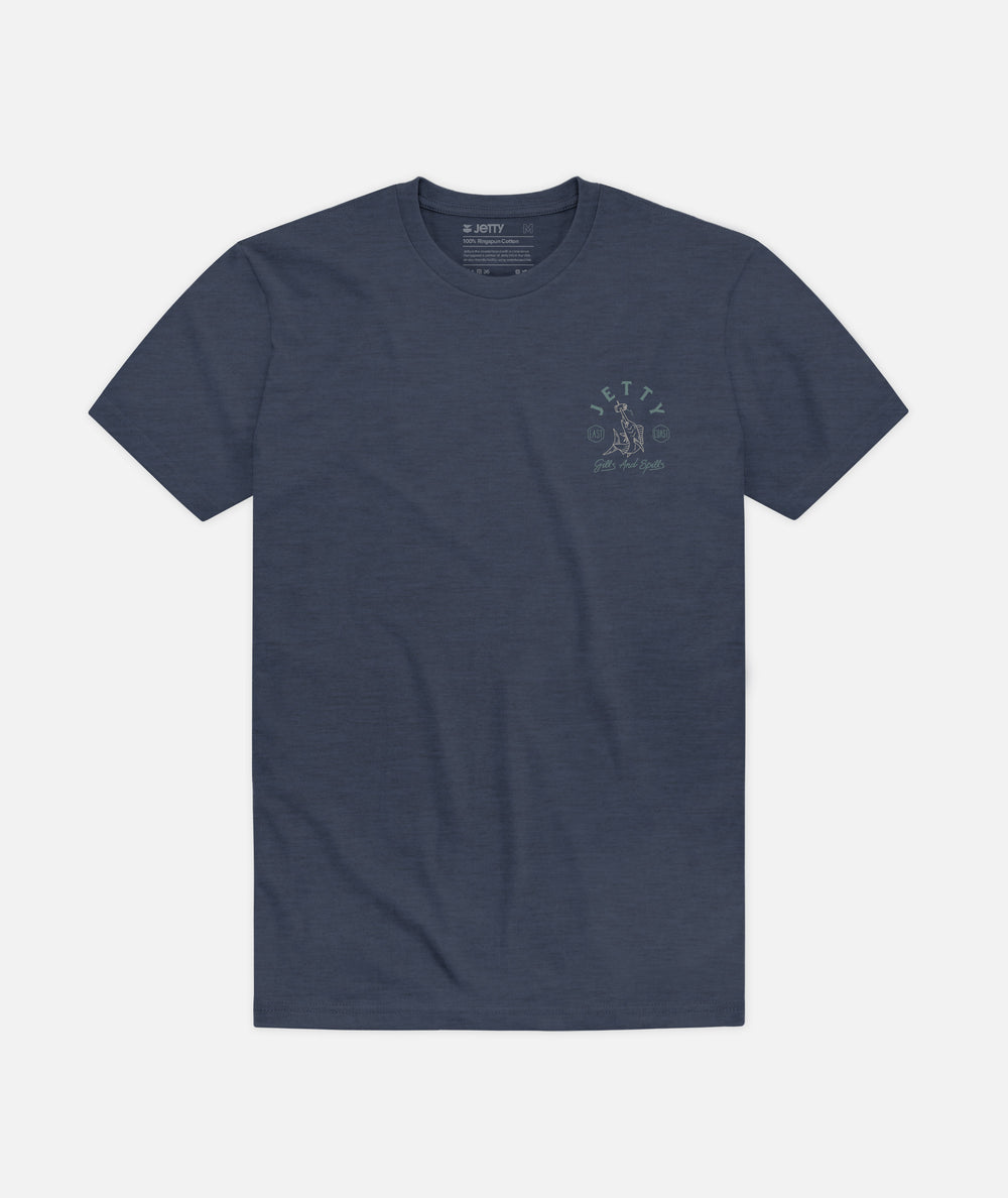 Beer Spear Tee - Navy