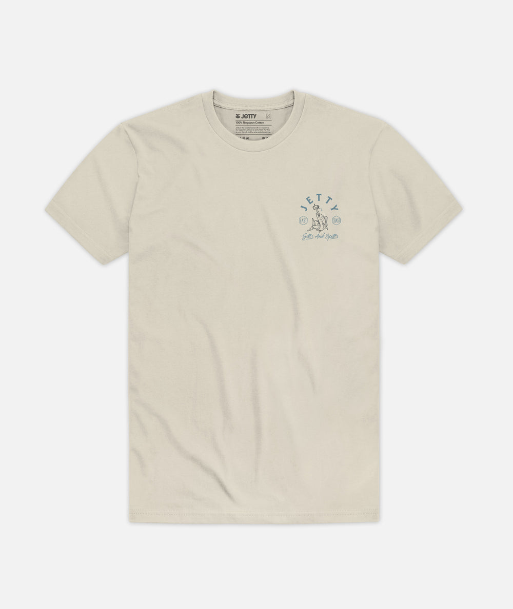Beer Spear Tee - Cream