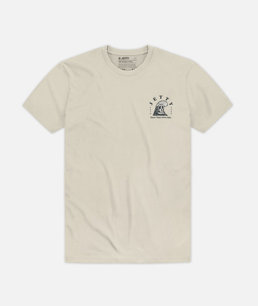 Grim Ripper Tee - Cream