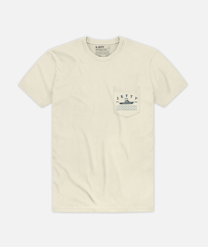 Shenanigans Pocket Tee - Cream