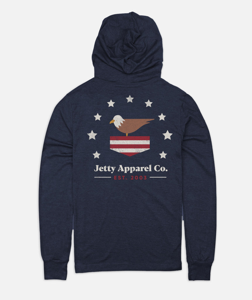 Patrioties Hooded Tee - Navy