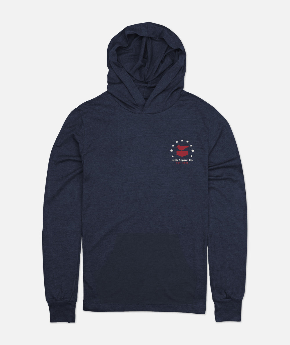 Patriotis Hooded Tee - Navy