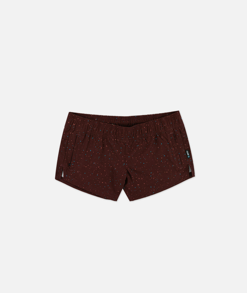 Womens Session Short - Burgundy