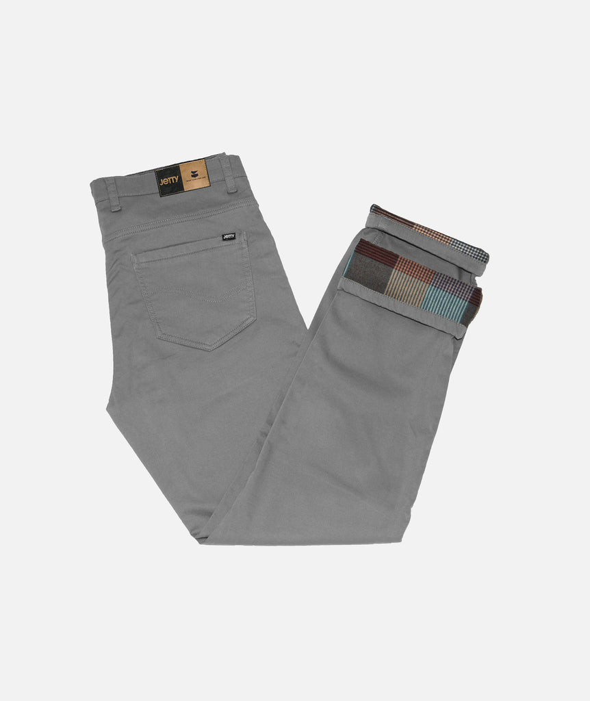 Jetty - Flanstone Lined Pant- Light Grey