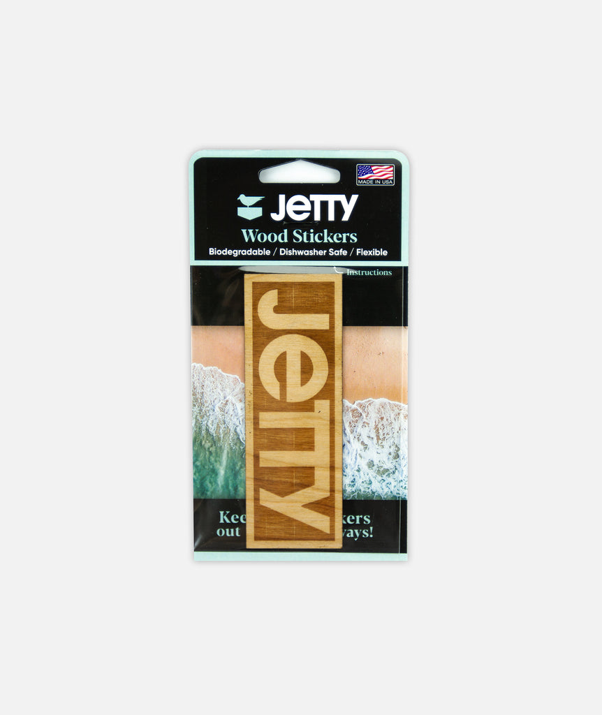 Jetty - Logo Wooden Sticker - Brown