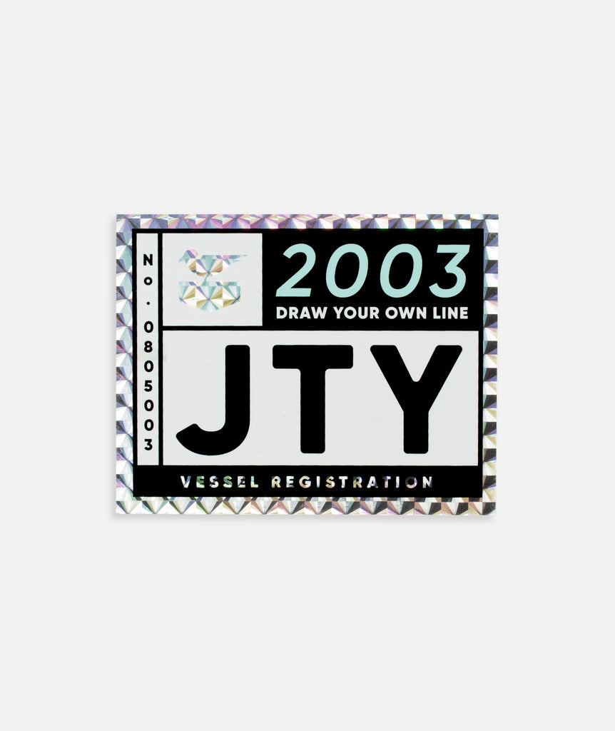 Jetty - Registrant Sticker - Black
