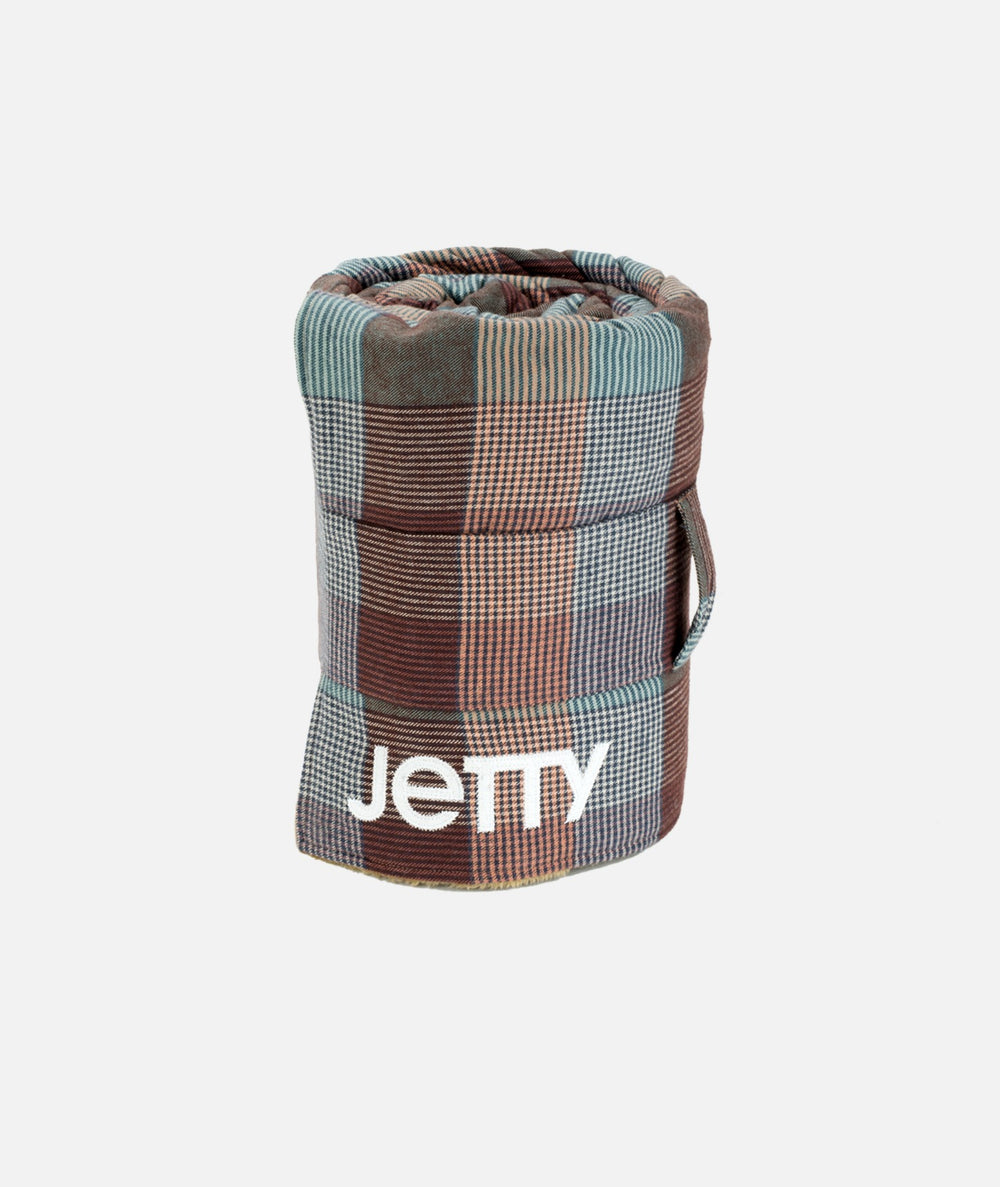 Jetty - Fireside Sherpa Blanket- Rust