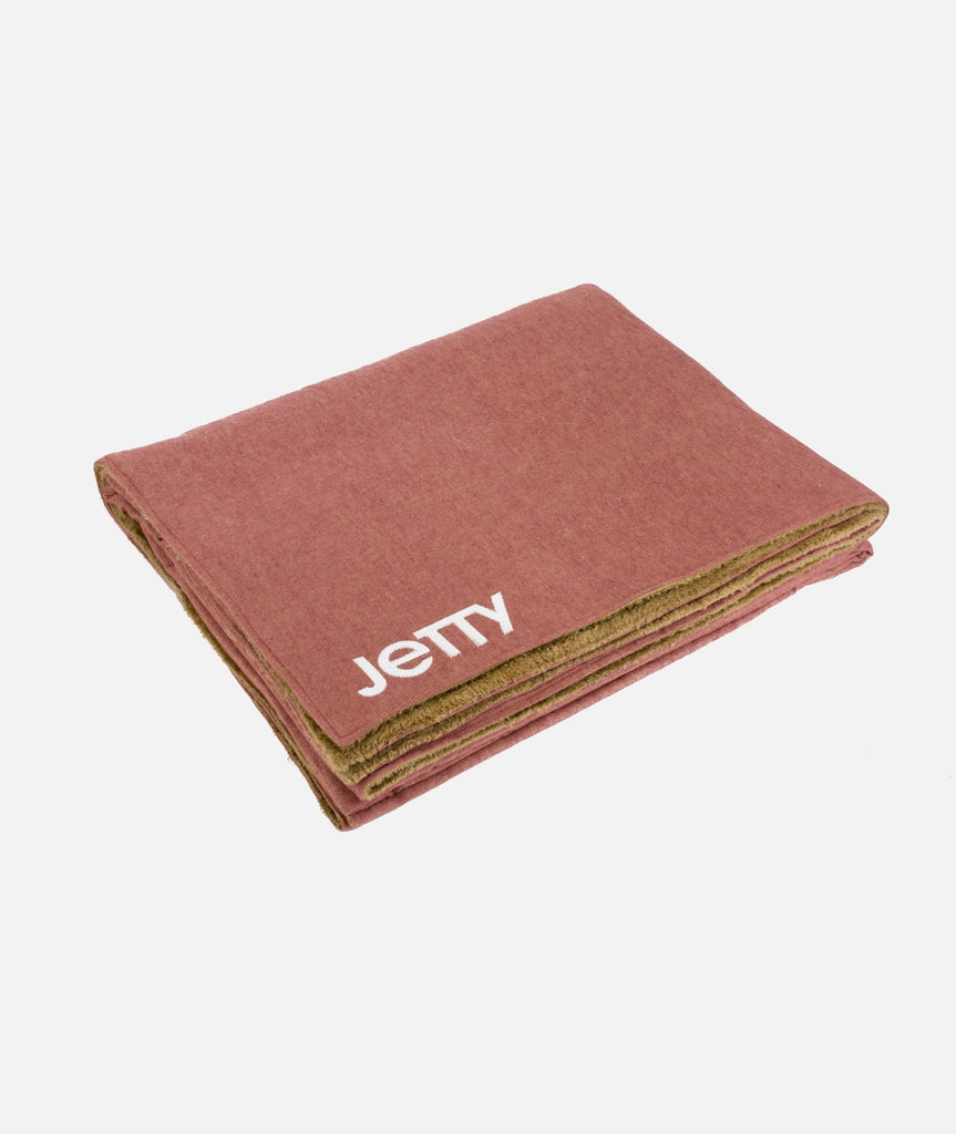 Jetty - Fireside Sherpa Blanket - Salmon