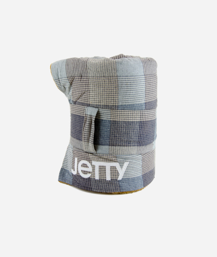 Jetty - Fireside Sherpa Blanket- Heather Grey