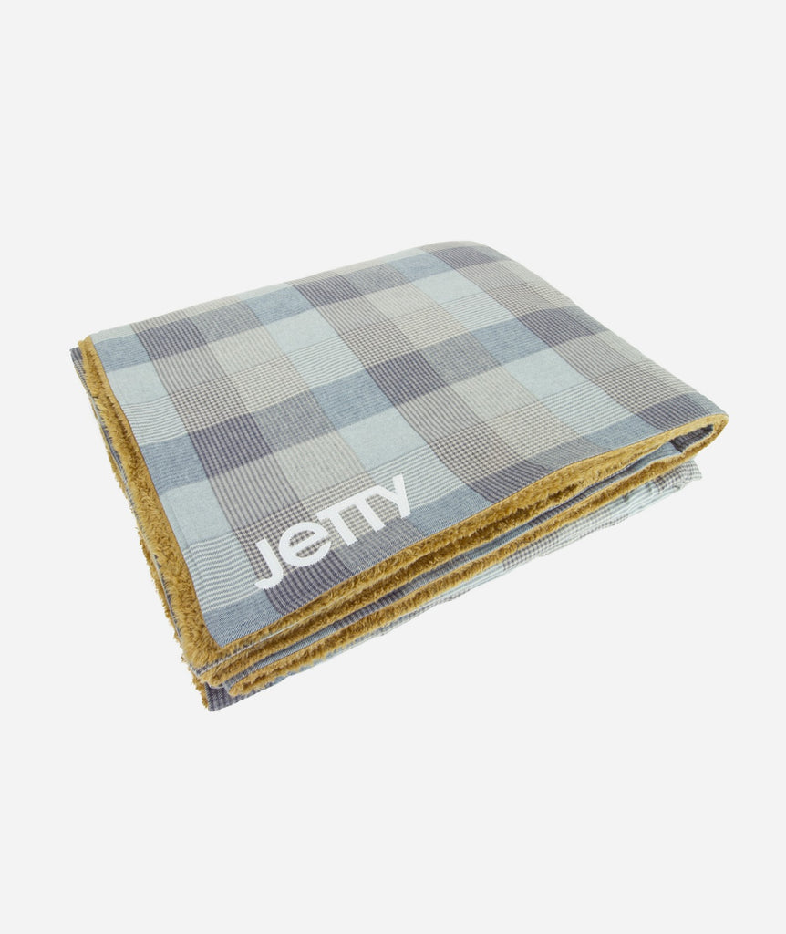 Fireside Sherpa Blanket- Heather Grey
