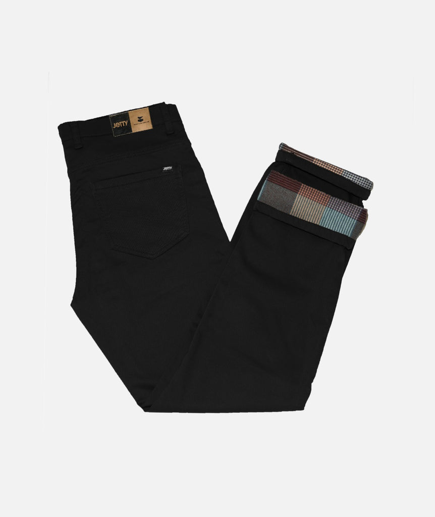 Jetty - Flanstone Lined Pant - Black