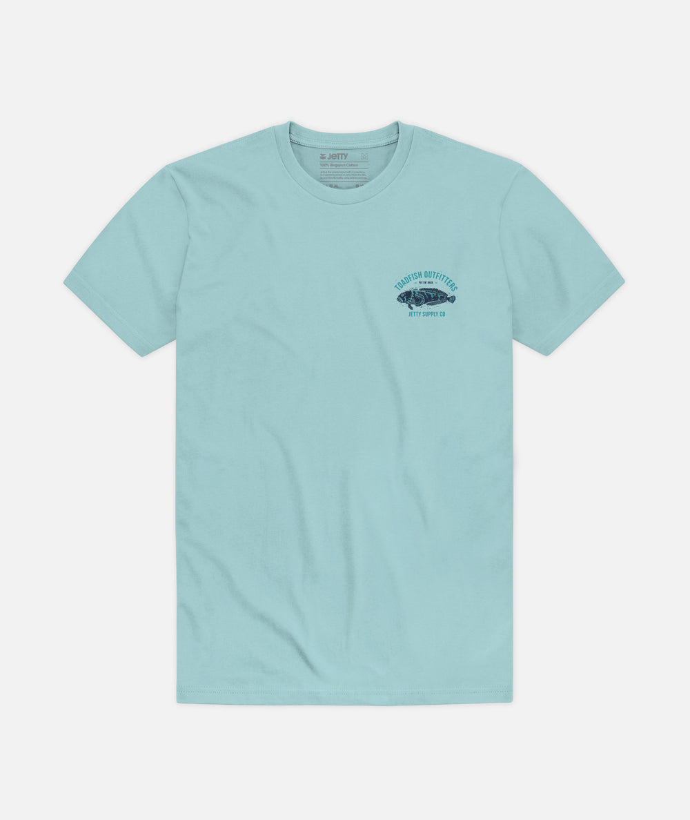 Jetty - Block Tee - Light Blue