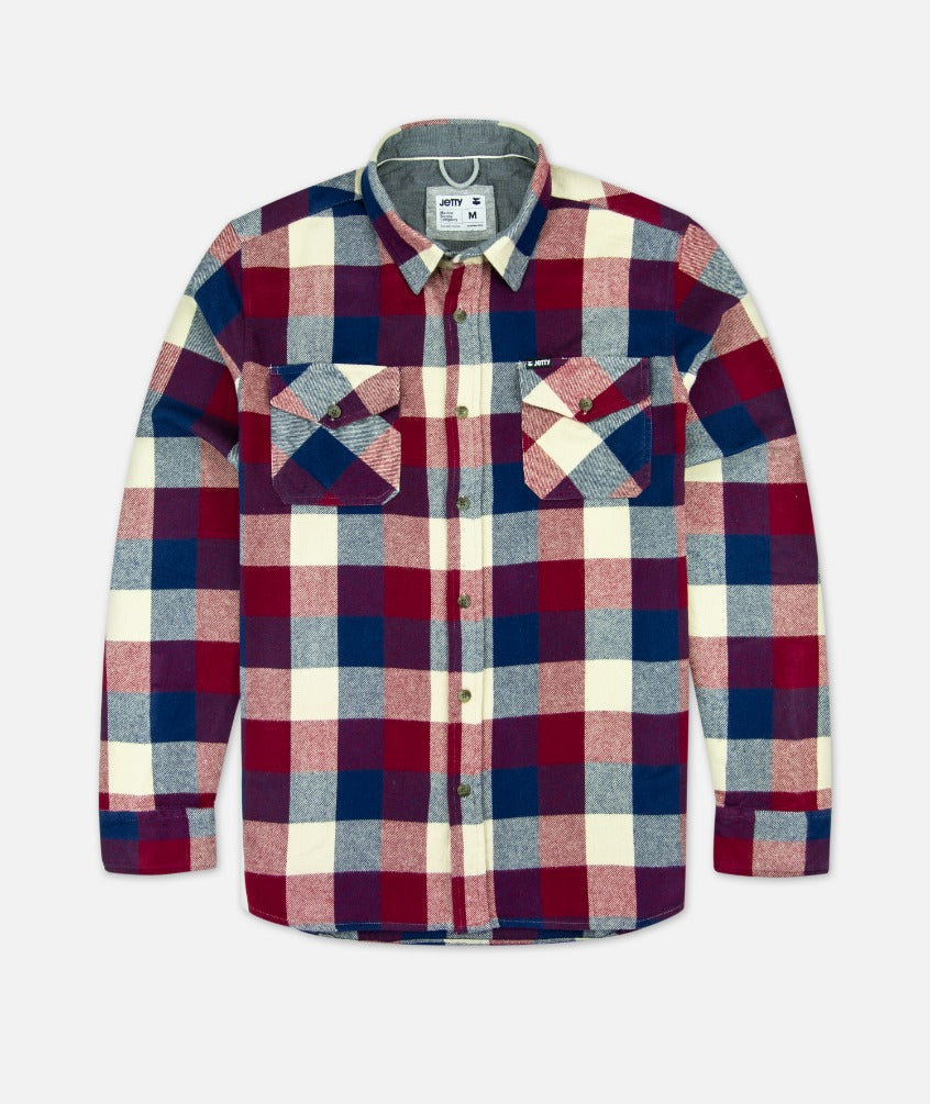 Jetty - Arbor Flannel - Red