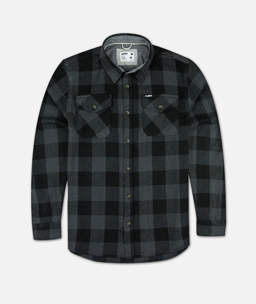 Jetty - Arbor Flannel - Black