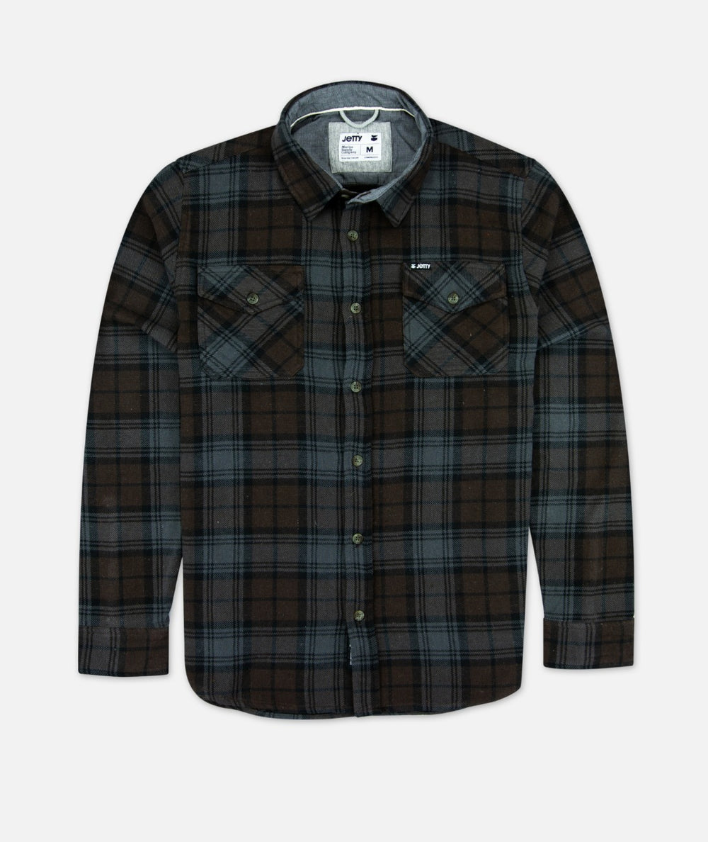 Jetty - Arbor Flannel - Brown