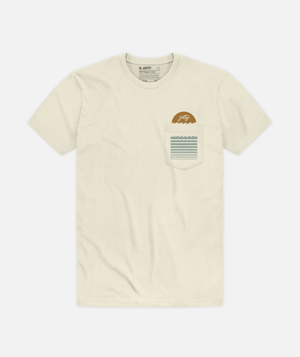 First Light Pocket Tee - Natural