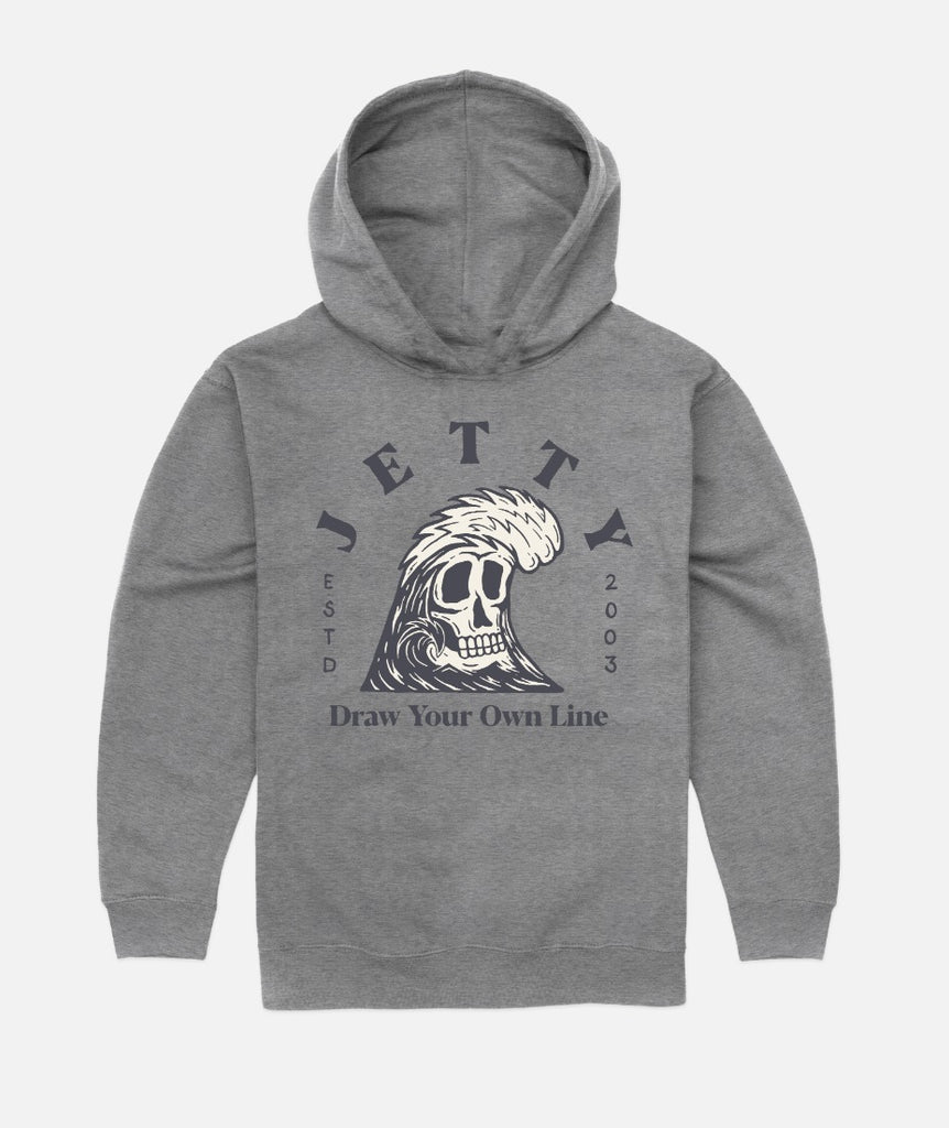 Tot Grim Ripper Hoodie - Heather Grey