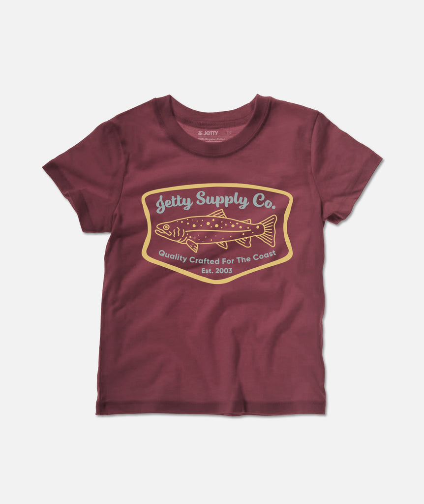 Tot Spotted Tee - Burgundy