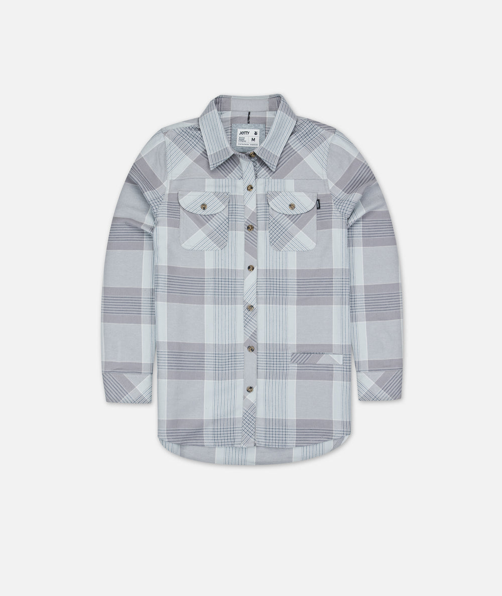 Tellulah Flannel Top - Grey