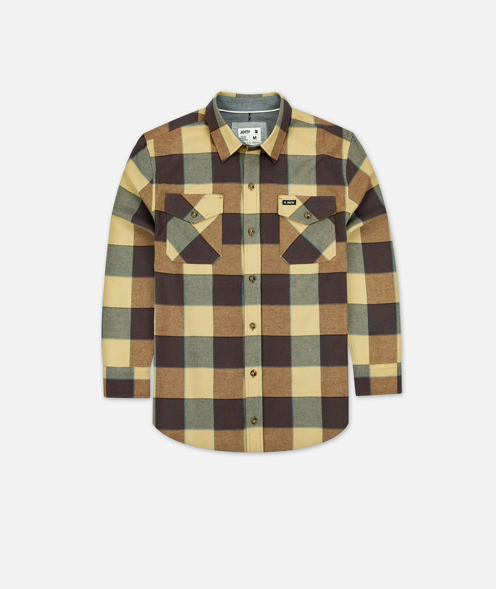 Tellulah Flannel Top - Chestnut