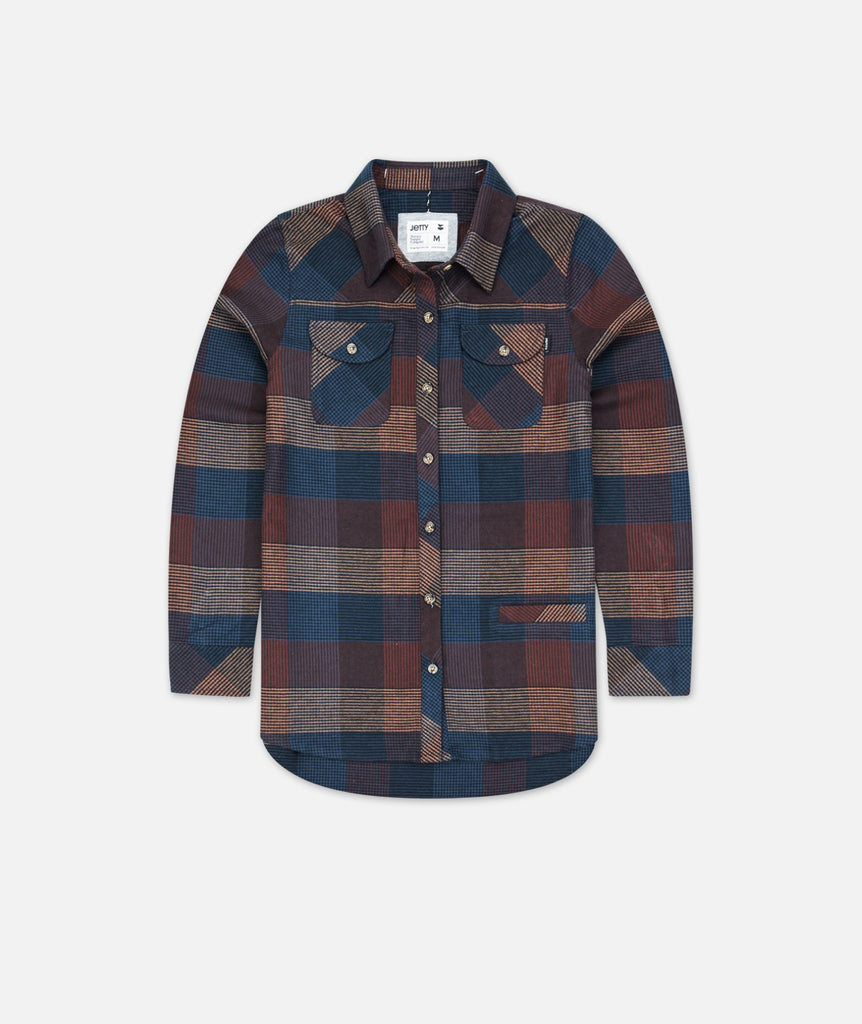 Tellulah Flannel Top - Burgundy