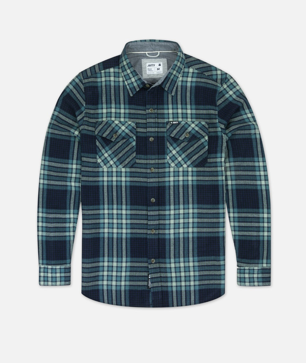 Arbor Heavy Flannel Shirt - Blue