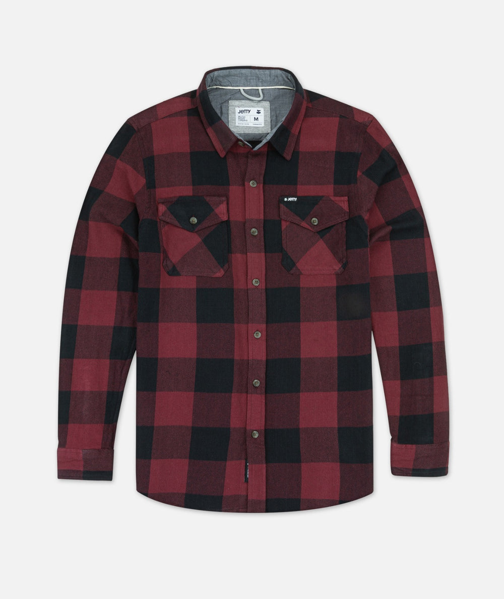 Arbor Heavy Flannel Shirt - Red