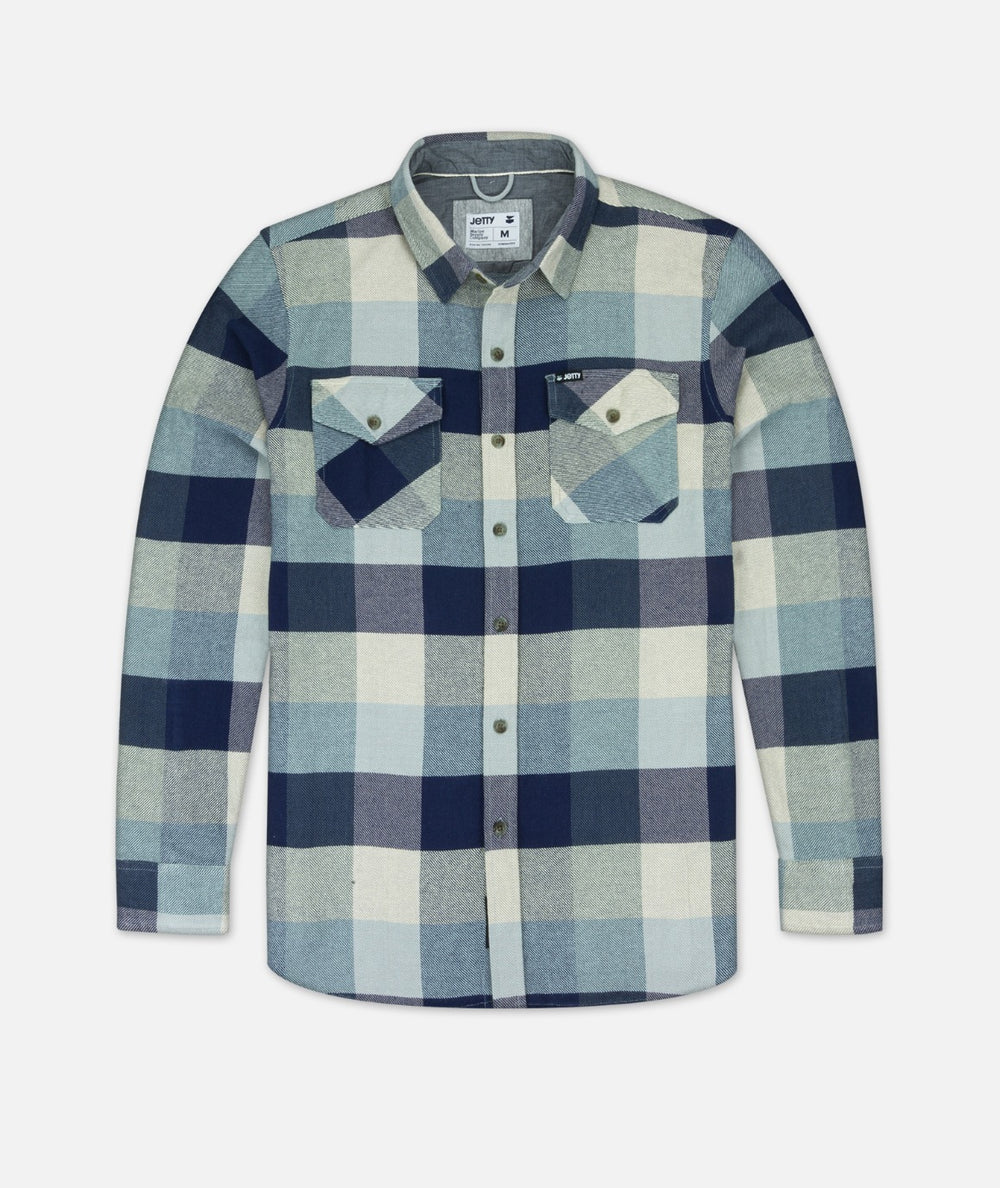 Arbor Heavy Flannel Shirt - Light Blue