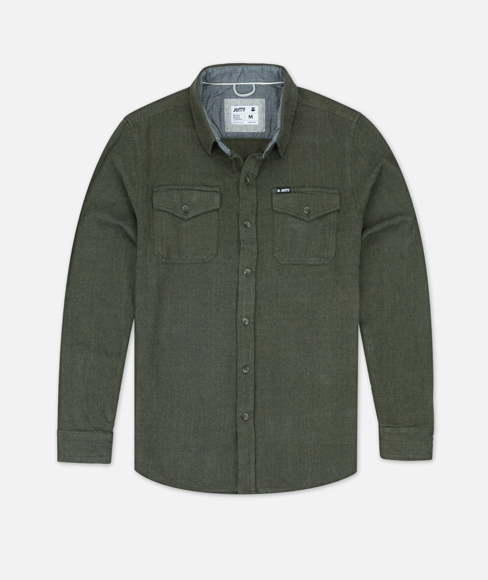 Arbor Heavy Twill Shirt - Olive