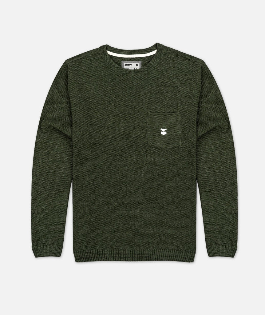 The Brine Sweater - Olive
