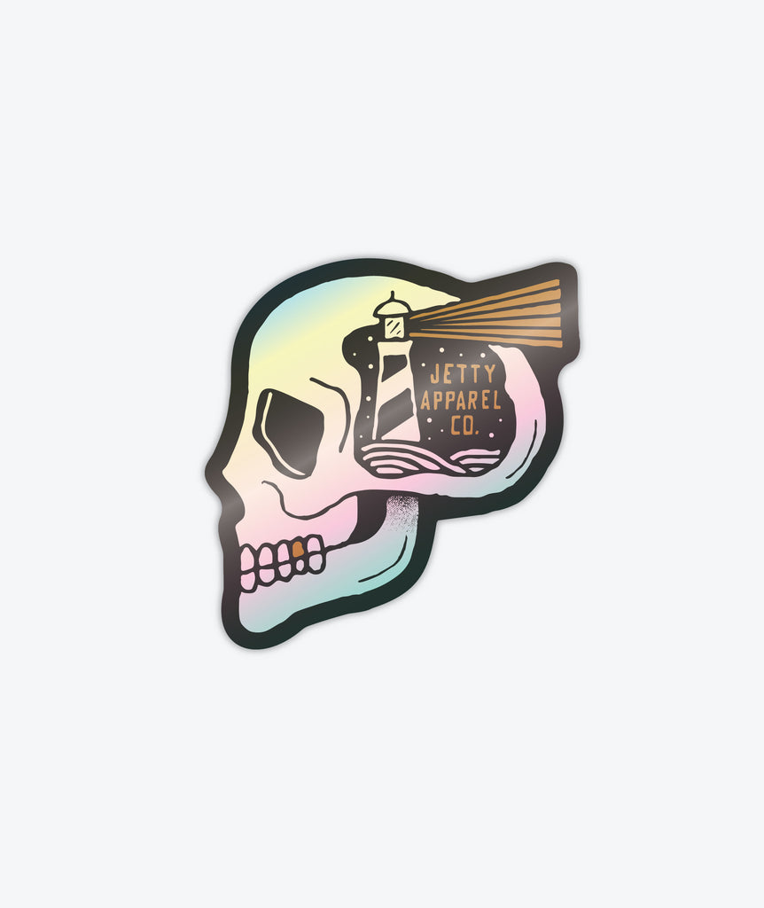 Skullhouse Sticker - Silver