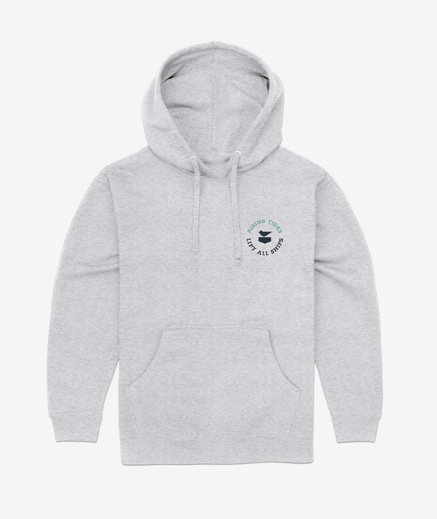 Rising Tides Hoodie - Heather Grey