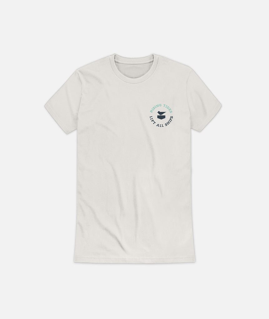 Womens Rising Tides Tee - Vintage White