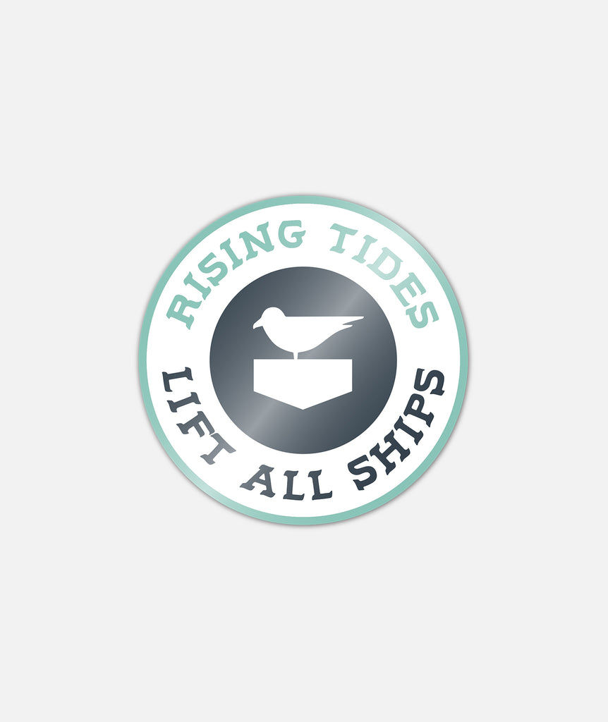 Rising Tides Sticker - White