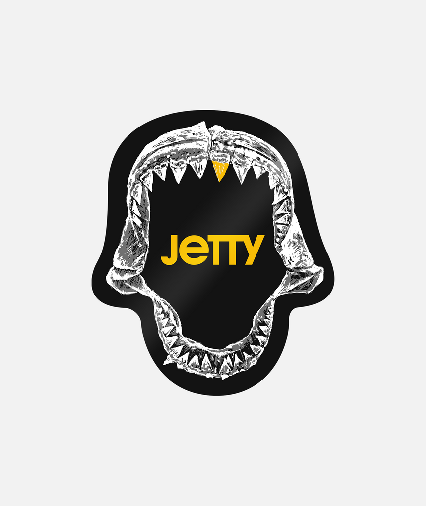 Jaws Black Sticker