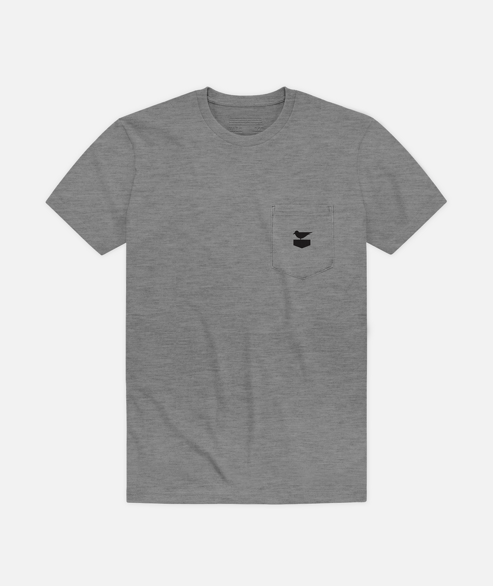Otis Pocket Tee - Heather Grey
