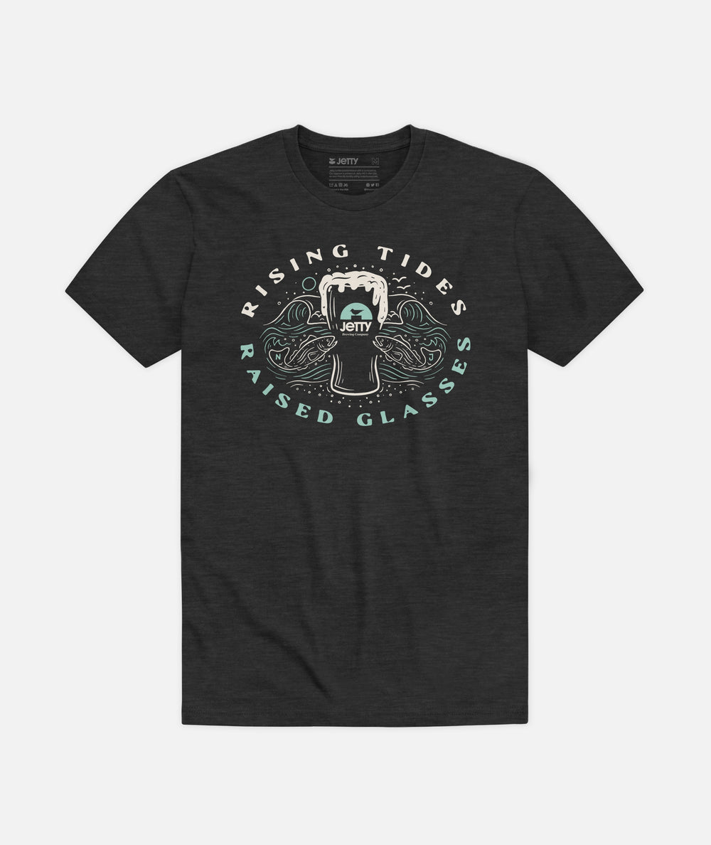 JBC Raised Glasses Tee - Charcoal