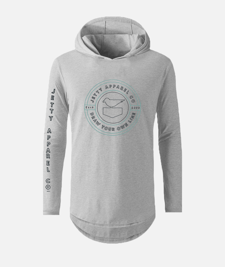 Filament UV Hoodie - Heather Grey
