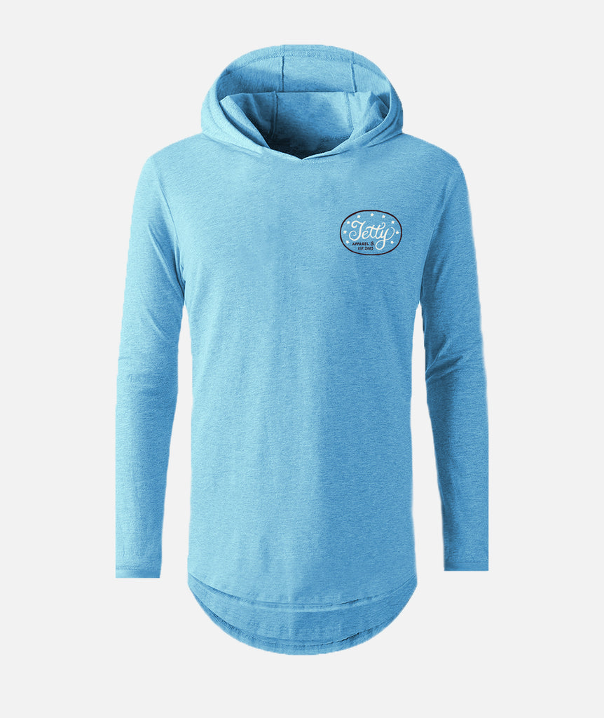 Old Glory UV Hoodie - Light Blue