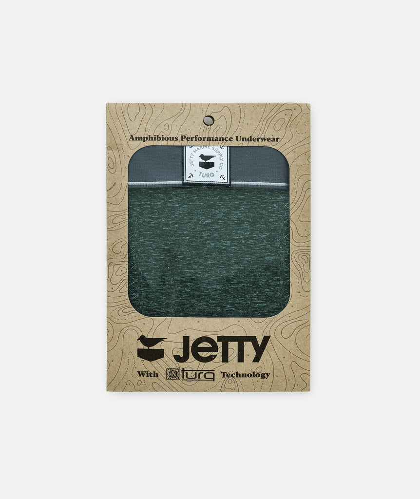 Jetty x Turq Amphibious Performance Briefs - Forest Green