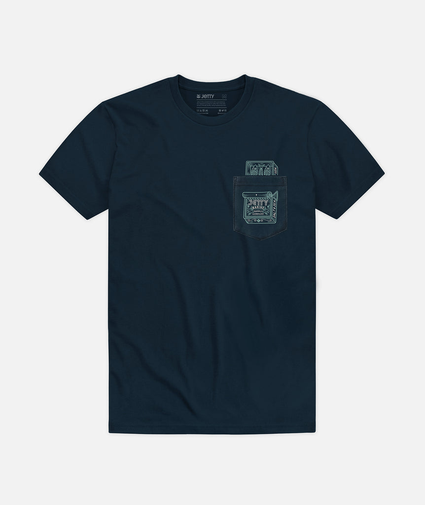 Sardines Pocket Tee - Navy