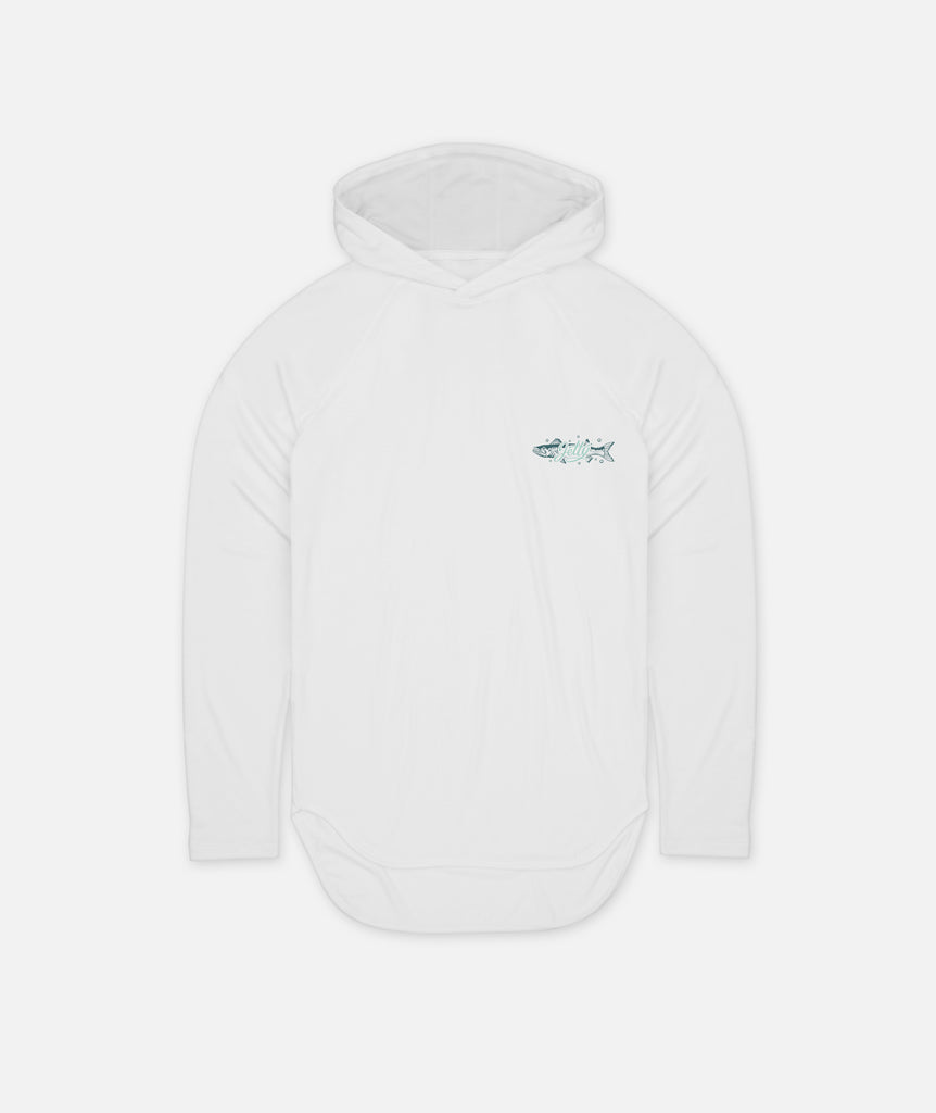 Riverbed UV Hoodie - White