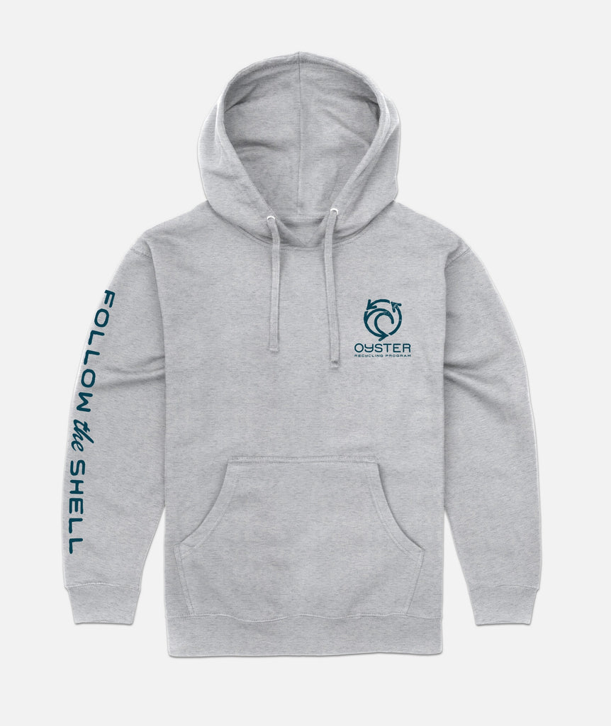 Oyster Recycling Hoodie - Grey
