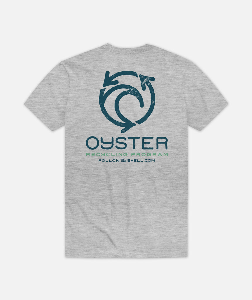 Oyster Recycling Tee - Grey
