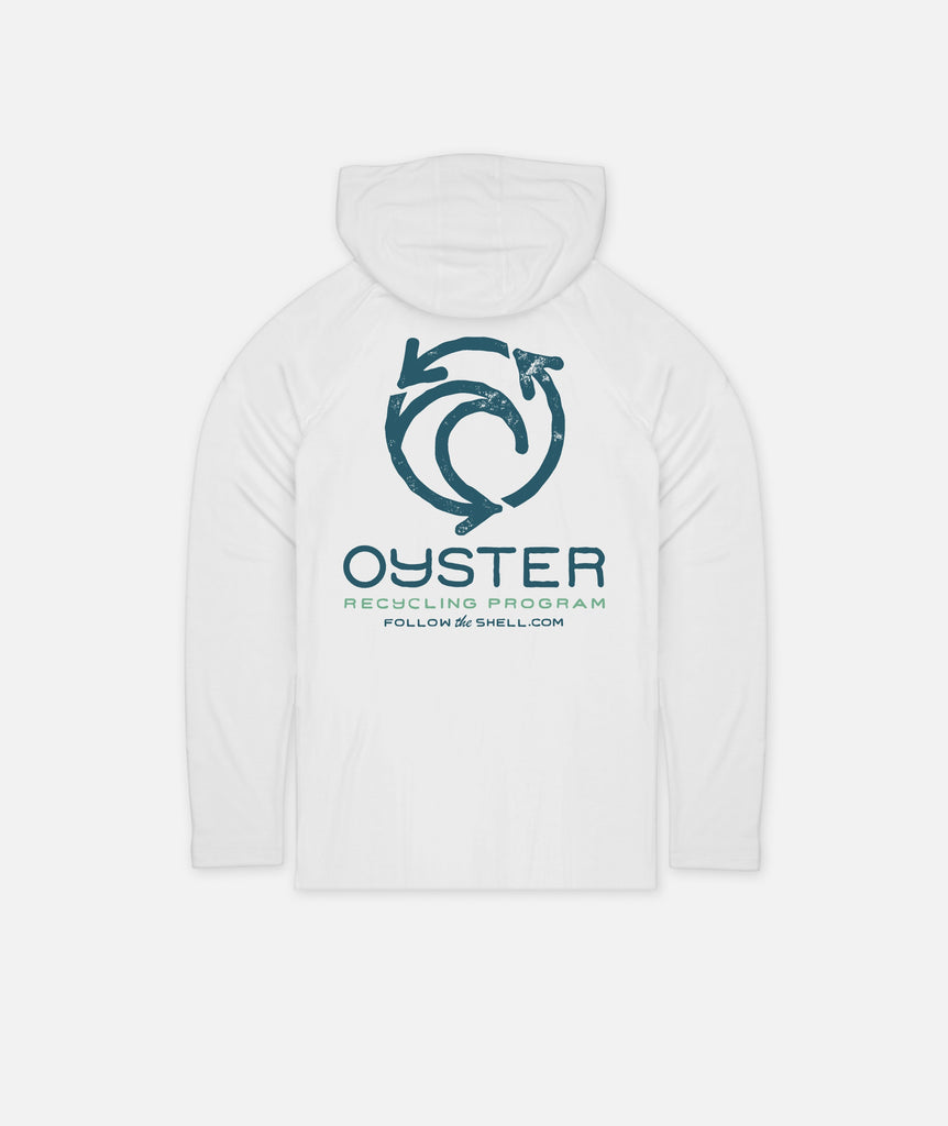 Oyster Recycling LS Hooded UV Solar - White
