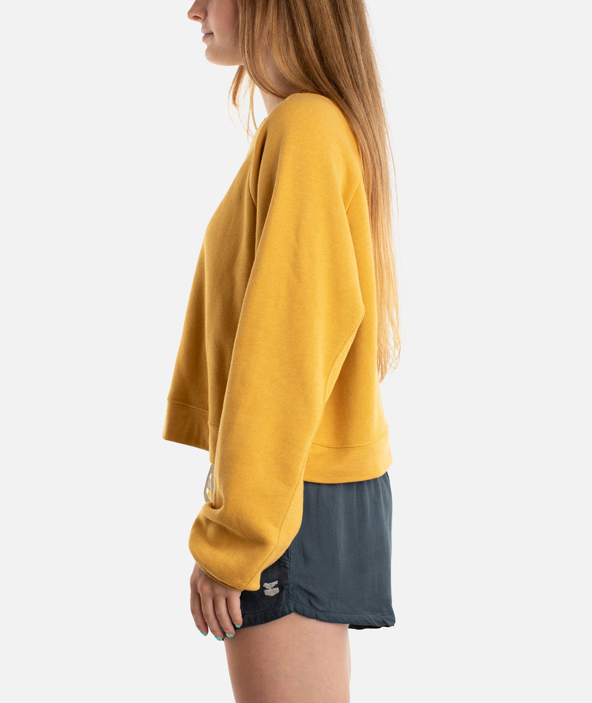 Helio Crew Neck Fleece - Mustard