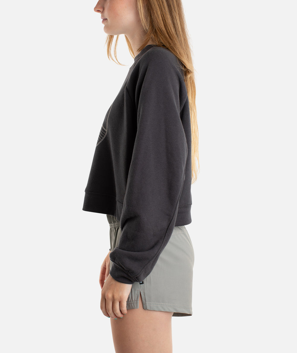 Sun Swell Crew Neck - Charcoal