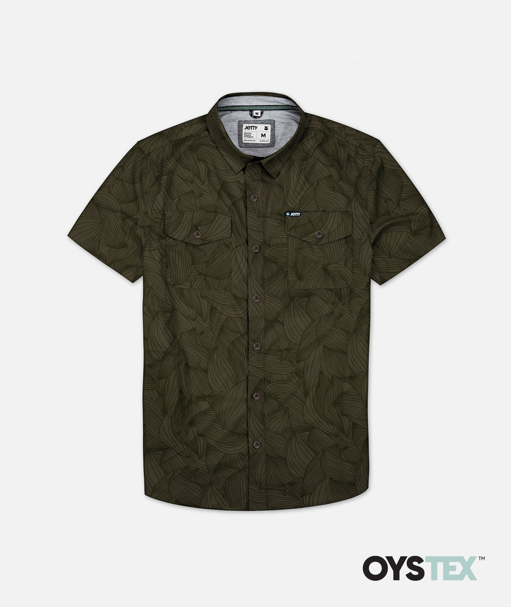 Wellspoint Button Up - Military